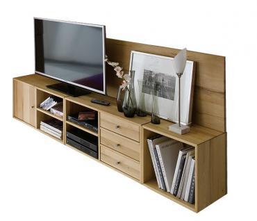 Mediencenter TV Board Lowboard Rack Wohnzimmer Kernbuche massiv geölt System