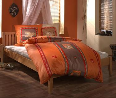 Bett Einzelbett Doppelbett Buche massiv natur lackiert Massivbett Jugendzimmer - Vorschau 1