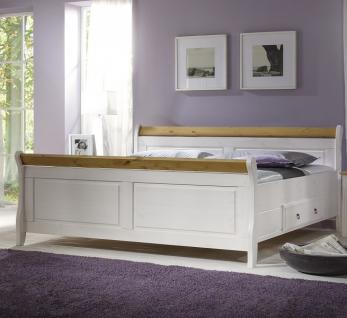 ehebett bett einzelbett doppelbett g stebett landhausstil kiefer massiv kaufen bei saku system. Black Bedroom Furniture Sets. Home Design Ideas