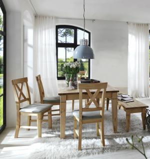Tischgruppe Esszimmergruppe Tisch Stühle Bank Essgruppe Kiefer massiv Landhaus - Vorschau 1