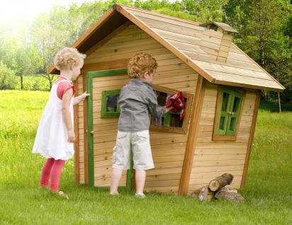 Spielhaus Hexenhaus Holzspielhütte Spielhütte Wunderland Holz TÜV geprüft - Vorschau 4