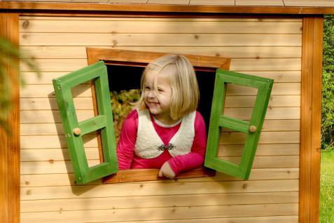 Spielhaus Spielhütte Holzspielhaus Holzspielhütte Hexenhäuschen TÜV geprüft Holz - Vorschau 3