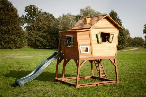 spielhaus holzh tte f r kinder holzspielhaus rutsche t v gepr ft zedernholz kaufen bei saku. Black Bedroom Furniture Sets. Home Design Ideas