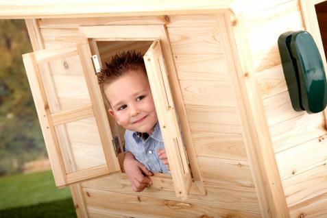 Spielhaus Spielhütte Holzspielhaus für Kinder TÜV geprüft Zedernholz stabil - Vorschau 5