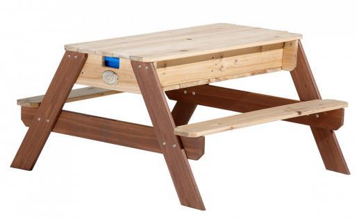 Tisch Picknickstisch Kindertisch Spieltisch Sand Wasser Holz Stauraum Garten - Vorschau 1