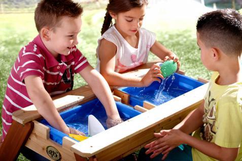 Tisch Picknickstisch Kindertisch Spieltisch Sand Wasser Holz Stauraum Garten - Vorschau 5