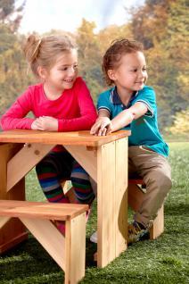 tischgruppe f r kinder garten b nke tisch kindergartengruppe holz zeder kaufen bei saku system. Black Bedroom Furniture Sets. Home Design Ideas