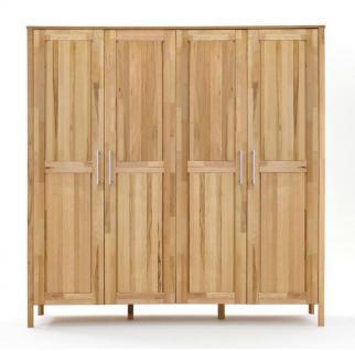 schlafzimmer komplett set kernbuche massiv ge lt kleiderschrank bett modern kaufen bei saku. Black Bedroom Furniture Sets. Home Design Ideas