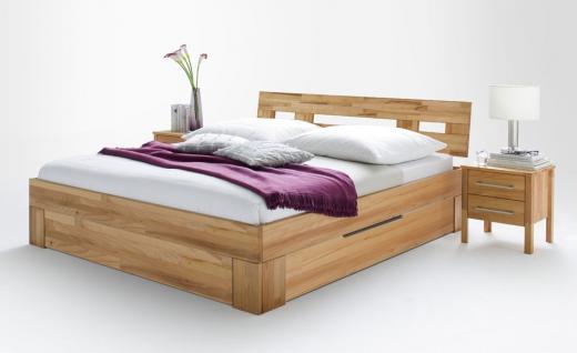 schlafzimmer set kompletteinrichtung schrank schubladenbett kernbuche massiv kaufen bei saku. Black Bedroom Furniture Sets. Home Design Ideas