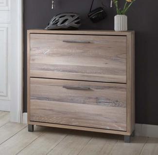schuhschrank eiche ge lt g nstig kaufen bei yatego. Black Bedroom Furniture Sets. Home Design Ideas
