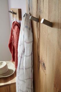 Wandgarderobe Hutablage Balken Eiche massiv natur geölt White Wash Kleiderstange - Vorschau 3