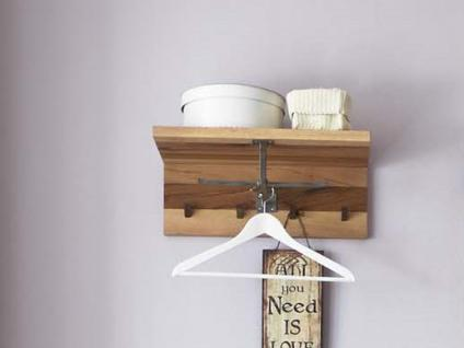 Hutablage Wandgarderobe Garderobe Balken Eiche massiv geölt white wash - Vorschau 1