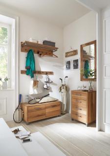 Garderoben Kombination Set Flur Balkeneiche massive natur geölt mit Wuchsrissen