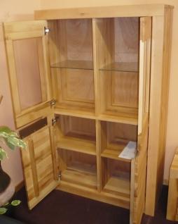 vitrine schrank wohnzimmerschrank wildeiche massiv ge lt. Black Bedroom Furniture Sets. Home Design Ideas