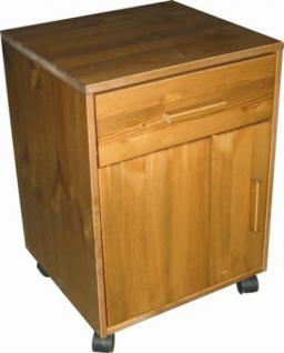 Rollcontainer Container Kommode Nachtkommode Kiefer massiv honigfarben FSC - Vorschau 1