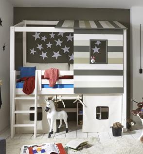 kinderzimmer set halbhohes abenteuerbett kleiderschrank bett kiefer massiv bunt kaufen bei. Black Bedroom Furniture Sets. Home Design Ideas