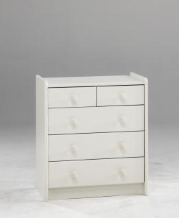 Kommode Kinderkommode 2+3 Schubladen MDF weiß lackiert Kinderzimmer - Vorschau