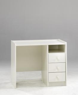 Schreibtisch Kinderschreibtisch mit 3 Schubladen aus MDF weiß lackiert