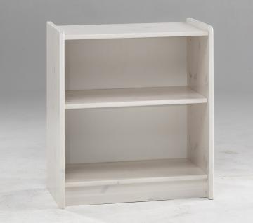 Regal Bücherregal Standregal klein Kinderrregal Kiefer massiv white wash natur - Vorschau 1