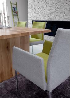 stuhl esstimmerstuhl mit armlehnen stoff vierkant grau. Black Bedroom Furniture Sets. Home Design Ideas