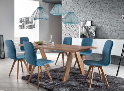 Schalenstuhl stuhl esszimmer modern blau eiche massiv hellblau samtig kaufen bei saku system - Schalenstuhl stoff ...
