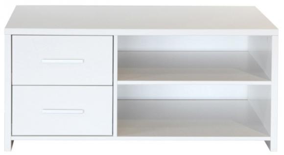 lowboard tv anrichte tv board 2 schubladen mdf weiss. Black Bedroom Furniture Sets. Home Design Ideas