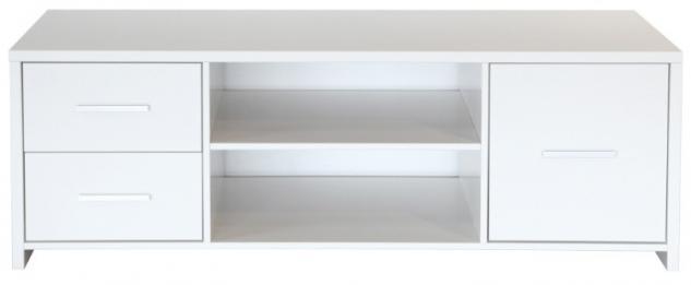 Lowboard Rack Board Anrichte MDF weiss Wohnzimmer Beimöbel Beistelltisch - Vorschau