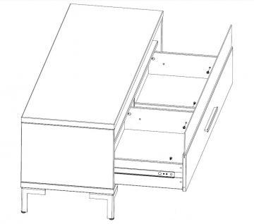 Lowboard Rack TV Board Beimöbel Wohnzimmer MDF weiss lackiert - Vorschau 2