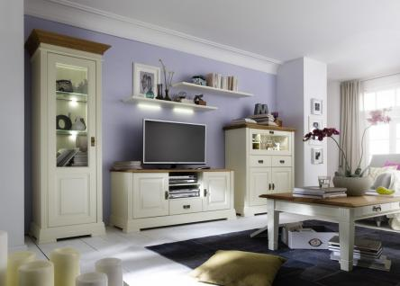 Beautiful Set Wohnwand Kiefer Wildeiche Massiv Vintage Shabby With Wohnwand  Creme With Vintage Wohnwand