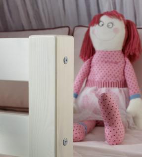 Prinzessinnen Bett Halbhochbett Prinzessin Kinderbett Kinderzimmer massiv Kiefer - Vorschau 5