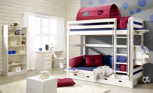 Etagenbett Hochbett Kinderbett Kinderzimmer Betten Kiefer massiv weiss ...