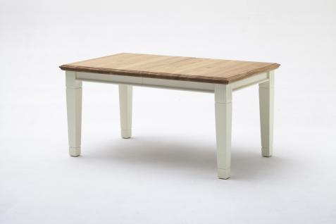Tisch Esstisch integrierter Auszug Verlängerungsplatte Kiefer Wildeiche massiv