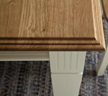 Satztisch Beistelltisch mit Schublade Kiefer Wildeiche massiv vintage shabby - Vorschau 3