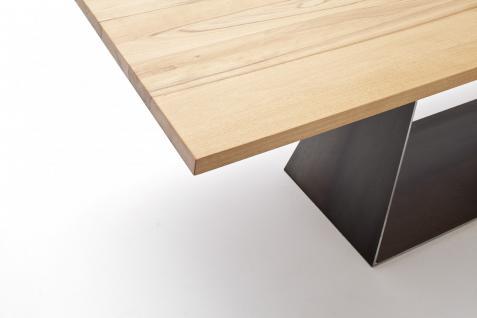 Tisch Esstisch Esszimmertisch Säulentisch Kernbuche massiv Stahl individuell - Vorschau 3