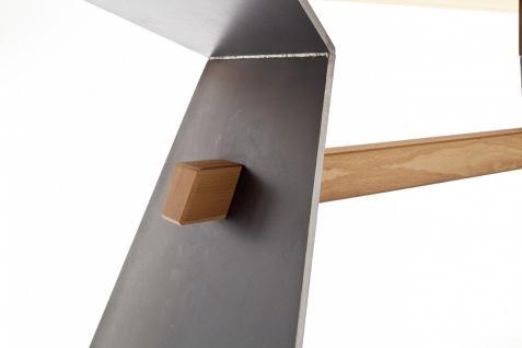 Tisch Esstisch Esszimmertisch Säulentisch Kernbuche massiv Stahl individuell - Vorschau 5