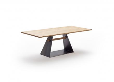 Tisch Esstisch Esszimmertisch Säulentisch Kernbuche massiv Stahl individuell - Vorschau 1