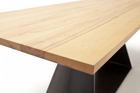 Tisch Esstisch Esszimmertisch Säulentisch Kernbuche massiv Stahl individuell - Vorschau 4