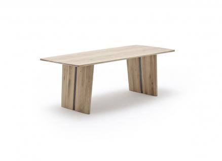 Wangentisch Tisch Esstisch Esszimmer Eiche Asteiche massiv geölt Applikation