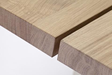 Esstisch Tisch Wangentisch Asteiche Eiche bianco geölt massiv Stahlgestell - Vorschau 3