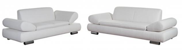 Polstergarnitur Sofa Set Garnitur Sofagarnitur modern schwarz creme grau - Vorschau 1