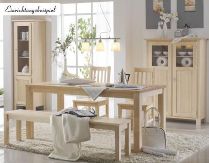 Bank Sitzbank Beistellbank Küchenbank Tischgruppe Birke massiv gewachst - Vorschau 2