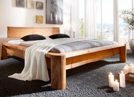 Unikat-Bett Doppelbett Gästebett Bett Rundfüße Kiefer/Fichte massiv gewachst - Vorschau 1