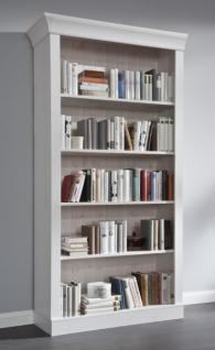 Bücherregal Regal Bücherschrank Bibliothek Kiefer massiv weiß gebeizt geölt
