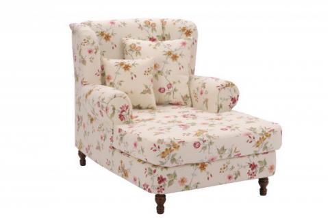 Mega-Sessel + 2x Zierkissen XXL Sessel Lounge Chair Relaxsessel florale Muster - Vorschau