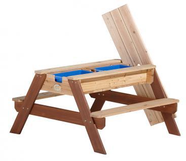 Tisch Picknickstisch Kindertisch Spieltisch Sand Wasser Holz Stauraum Garten - Vorschau 2