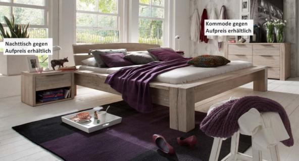 Bett Ehebett massiv Eiche Balkeneiche white wash rustikal Überlänge möglich - Vorschau 1