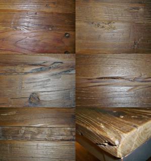Tisch Esstisch 140 x 90 cm Ulme Altholz antik vintage Used Look Gebrauchsspuren - Vorschau 2