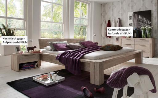 Bett Ehebett massiv Eiche Balkeneiche white wash rustikal Bettsystem - Vorschau 1