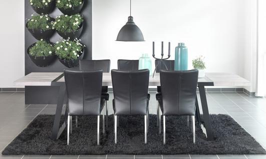 Tisch Esstisch Esszimmertisch Eiche Wildeiche massiv weiss geölt Eisen schwarz - Vorschau 3