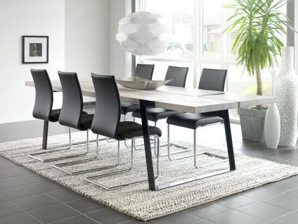 Tisch Esstisch Esszimmertisch Eiche Wildeiche massiv weiss geölt Eisen schwarz - Vorschau 4